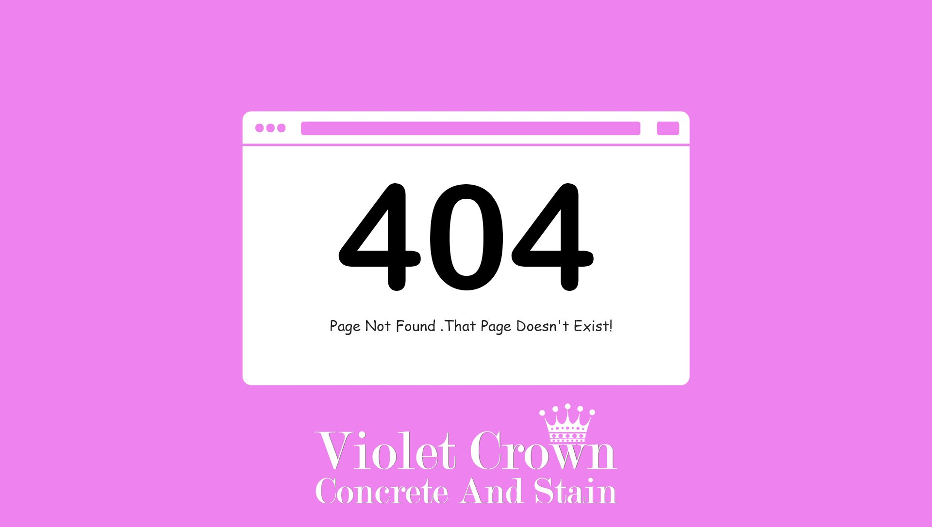 404 - Violet Crown Concrete and Stain