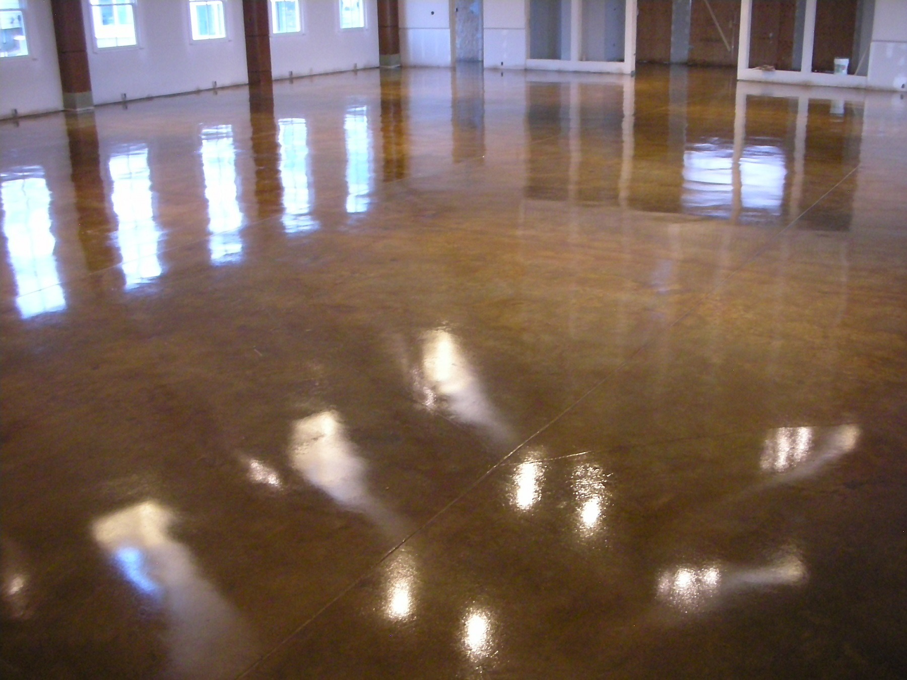 Water based Stained Concrete
