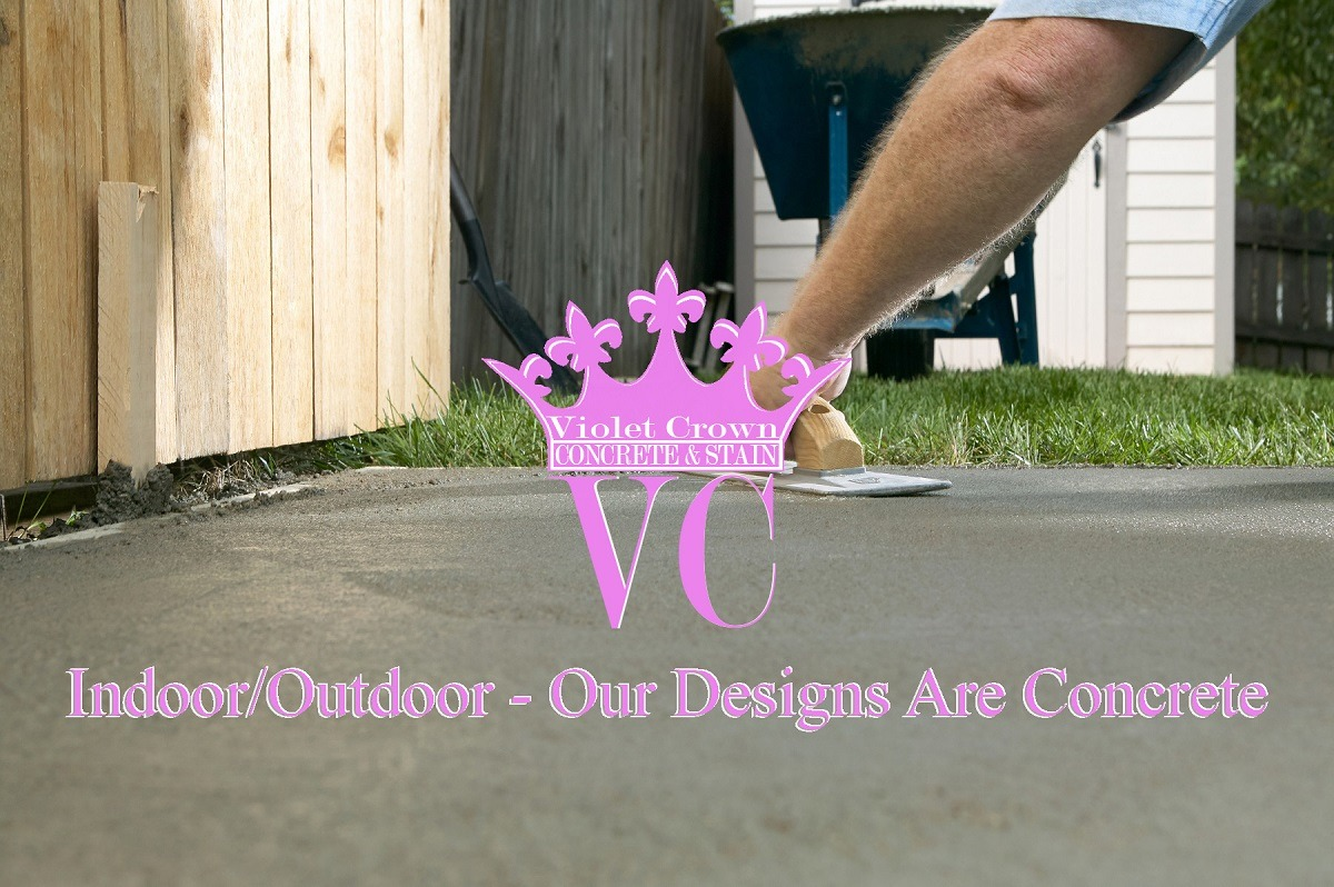 violet crown concrete and stain